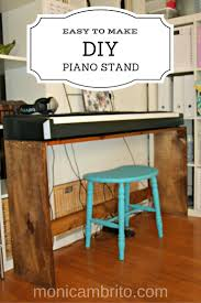 easy to make diy digital piano stand customize a stand to fit your keyboard