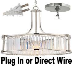 rewire a chandelier to plug in designs