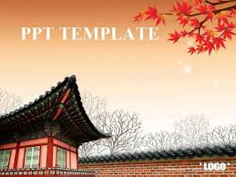 South Korean Classical Architecture Ppt Template Ppt