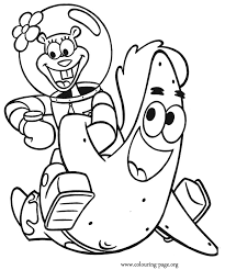 Spongebob Squarepants Patrick And Sandy Having Fun Coloring Page
