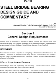 Bridge Bearing Design Guide Vol Ii Chapter 4 Higway Structures Design Handbook Pdf