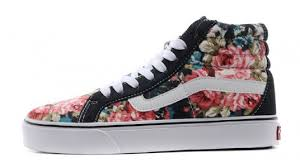 vans shoes with flowers. vans shoes black flower womens/mens sk8-hi suede/canvas sneakers - eurshirt shop with flowers m