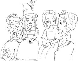 Princess Sofia Coloring Page Futpal Ruva