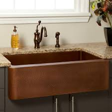 33 vernon hammered copper farmhouse sink