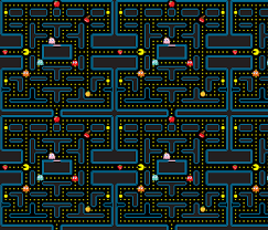Pac Man Pattern Adorable Pacman Retro Video Game Pattern Wallpaper Khaus Spoonflower
