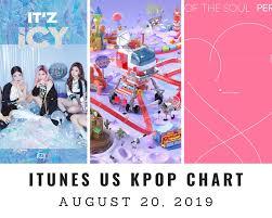 Itunes Us Itunes Kpop Chart August 20th 2019 2019 08 20
