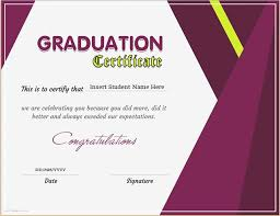 microsoft office certificate template graduation certificate template for ms word download at http