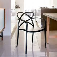 a beautifully sculptural chair that works equally well around a dining table as well as a