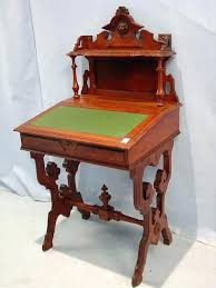 desks victorian las writing desk additional images writers walnut slant front ca tall wide in