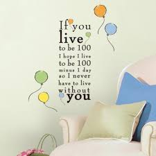 Wall Decal Quotes Custom Winnie The Pooh Live To Be 48 Peel And Stick Wall Decals RoomMates