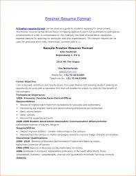 cover letter fresher resume format fresher resume sample format cover letter format of resume for fresher teacher incident report templatefresher resume format large size