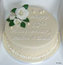 A Pearl 30th Wedding Anniversary Cake Cake Decorating Lily In