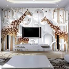 Great ... Giraffe Bedroom Decor Unique Unique 3d View Giraffe Wallpaper Cute  Animal Wall ...