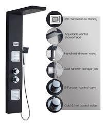 Thermostat Duschpaneel Aus Edelstahl Sus304 Lcd Wassertemperatur Digitalanzeige Brausepaneel Massagendüsen Mit Regendusche Handbrause Für Badezimmer