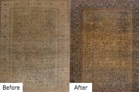 oriental rugs before after cleaning