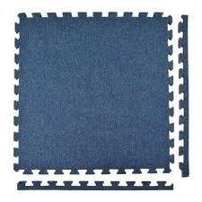 royal carpet blue velour plush 2 ft x 2 ft x 5 8