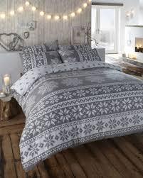 innsbruck grey flannelette duvet cover set king size only ships to uk
