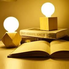 table lamp wooden base book lights e27 holder mini retro bedside lamp modern desk night light