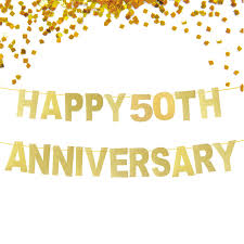 happy anniversary banners glitter gold happy 50th anniversary banner wedding anniversary
