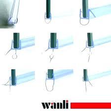 how to repair shower door bottom seal glass replacing install strip image bathroom installing framed