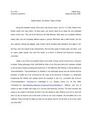 transcendentalism i only problem ideals is too much  3 pages ch american lit essay 1 final lexii