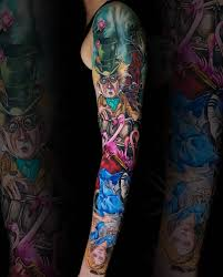 Alice In Wonderland Sleeve Tattoo 99 Images In Collection Page 2