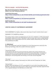 Partnership Agreement Between Companies Limited Partnership Agreement Template Templates Mtexnjkw