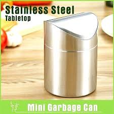 countertop garbage can counter top trash can brushed stainless steel mini garbage can table desk trash