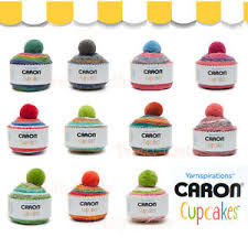 Details About New 12 Colors Caron Cup Cakes Gradient Worsted Yarn Ball Acrylic Pom Pom Hat
