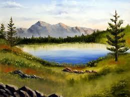 easy landscape to paint landscape oil painting painting mountain lake landscape oil painting