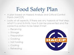 FoodSafe Level 1. Overview FoodSafe is an 8 hour course that will ... Food Safety Plan A plan based on Hazard Analysis and Critical Control Points (HACCP)