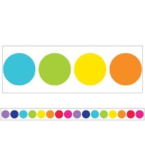 <b>Rainbow</b> Big Dots <b>Straight</b> Borders