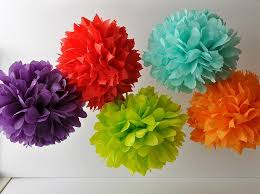 How To Make Tissue Paper Balls Decorations 100 DIY Tissue Paper PomPoms Paper pom poms Tissue paper and 59