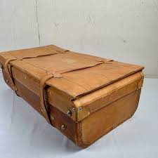 leather case for suitcase carrier luggage rack 1970 1950
