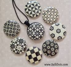 quilt dots black and white interchangeable magnetic jewelry