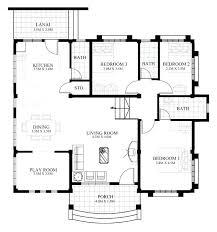 interesting design house floor plan one story home plans basics single brick with bonus room residential