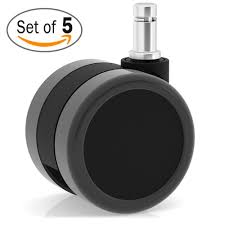 office furniture on wheels. Amazon.com: Katu Large Office Chair Casters Wheels For Hardwood - Heavy Duty Replacement Laminate And Carpets. (Set Of 5) Color Black \u0026 Dark Gray: Furniture On S