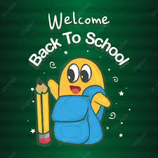 Welcome Back To School Banner With Hand Drawn Student And
