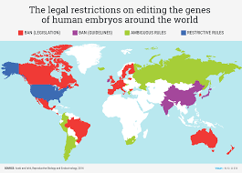 How Many Designer Babies Are There In The World This Map Shows Where Researchers Can Legally Do The Work