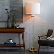 Column Floor Lamp Impressive Acrylic Column Floor Lamp Antique Brass West Elm