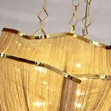 luxury gold plated chain chandelier