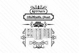 Kitchen Conversion Chart Milliliters Svg Cut Files Free