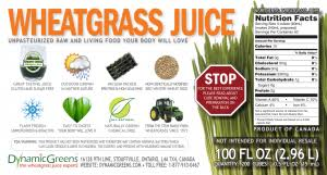 Wheatgrass Nutrition Chart Wheatgrass Nutrition Facts And Lab Tests