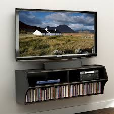 prepac altus black wall mounted tv stand