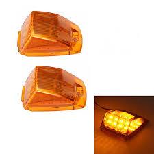 <b>1Pair</b> 17LED <b>12V Truck</b> Trailer <b>Side</b> Marker Lights Plastic Yellow ...