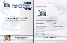 free printable bid proposal forms construction proposal template free proposal templates