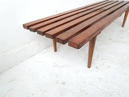 wood slat bench plans at sight new s vintage mid century modern timber slat bench