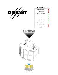 Chauvet O Beast User Manual Manualzz Com