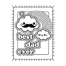 Kleurplaat Vaderdag