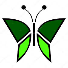Vector Illustration D Insecte Ic Ne Verte De Papillon Isol Sur